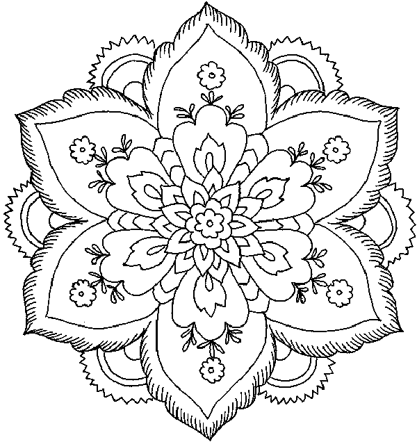 Complex Christmas Coloring Pages at GetDrawings.com | Free for ...