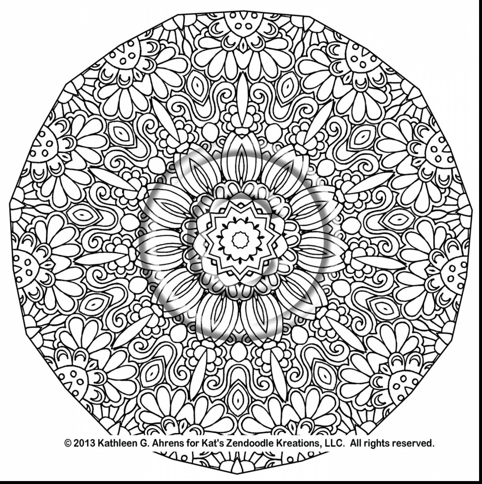 1644x1650 Complex Mandala Coloring Pages Printable Flogfolioweekly Intended