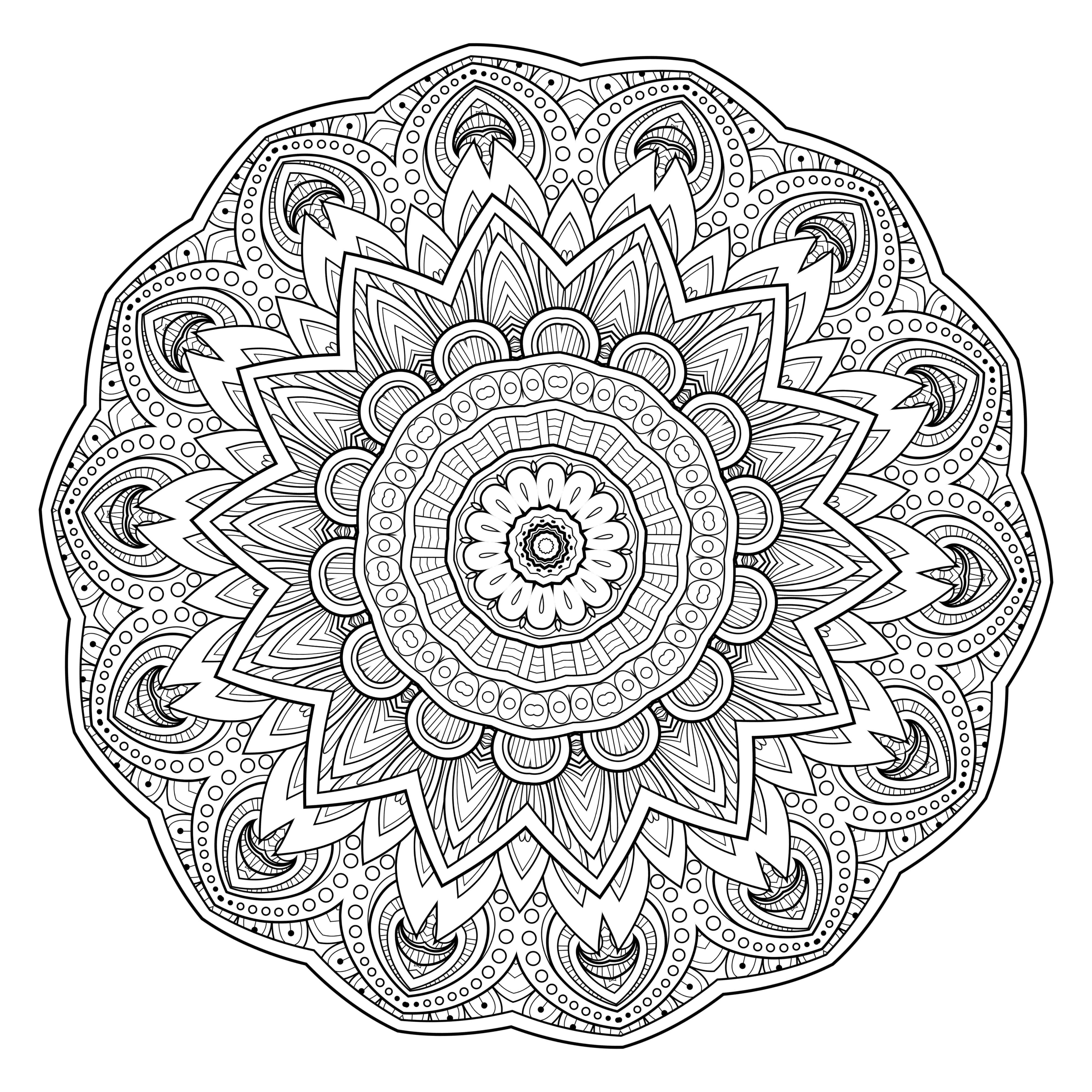 4000x4000 Free Printable Mandala Coloring Pages For Adults Coloring Pages