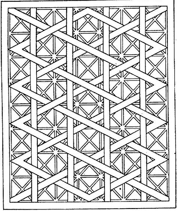 609x723 Geometric Shapes Cartoon Coloring Page Coloriages Divers