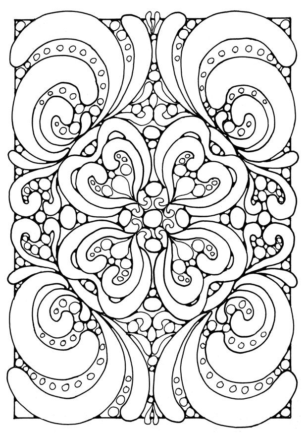 620x875 Hard Coloring Pages For Adults