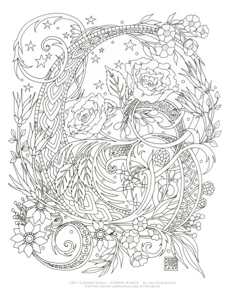464x600 Printable Complex Coloring Pages