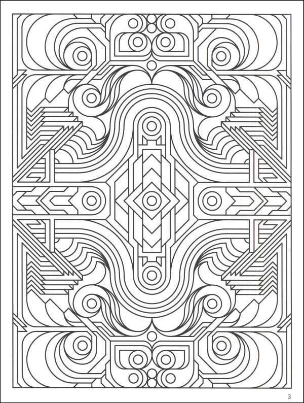 600x794 Complex Geometric Coloring Pages, Printable Complex Geometric