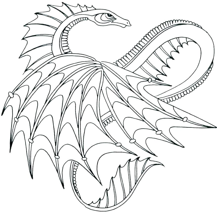 Complex Dragon Coloring Pages At Getdrawings Com Free For