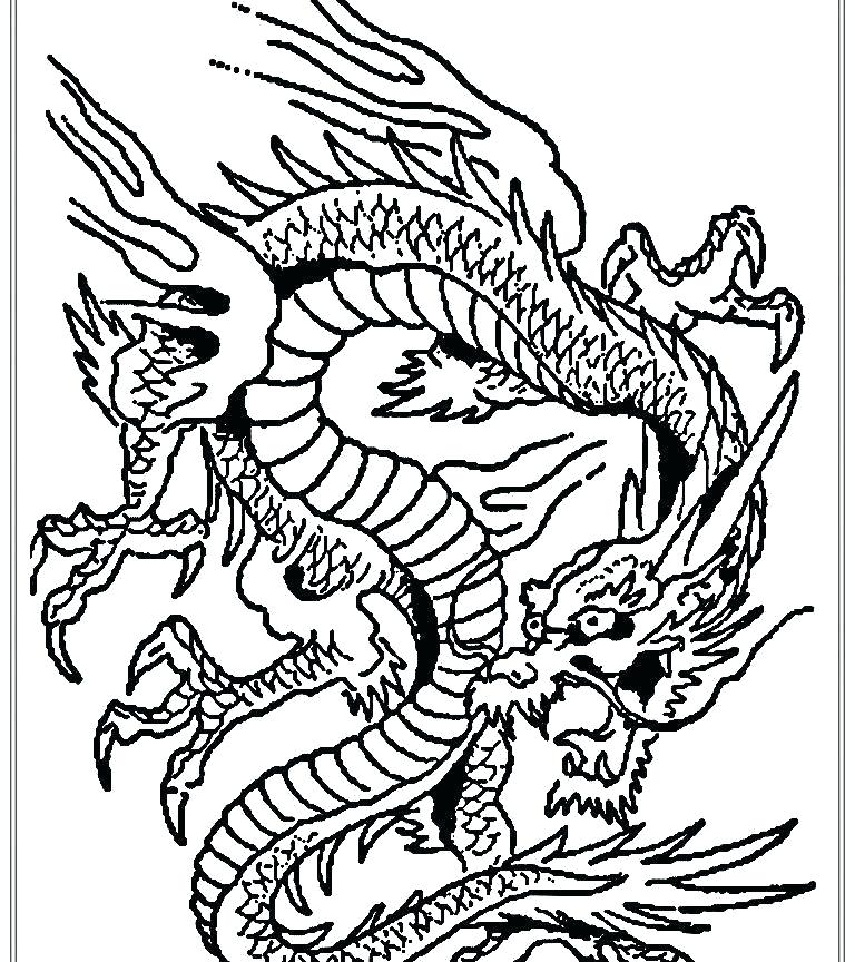 768x864 Dragon Coloring Pages For Kids Innovation Dragon Coloring Pages