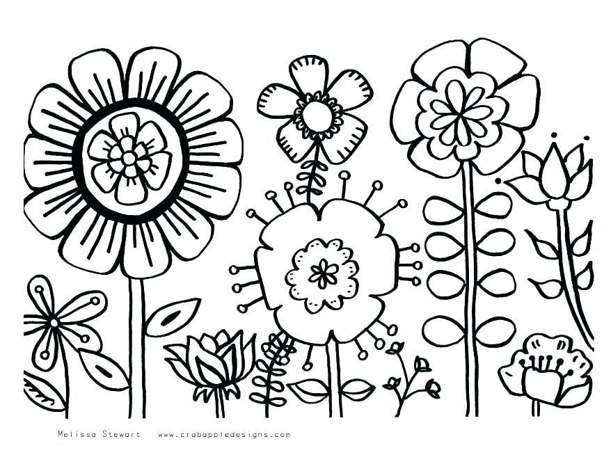 Complex Flower Coloring Pages at GetDrawings.com | Free for ...