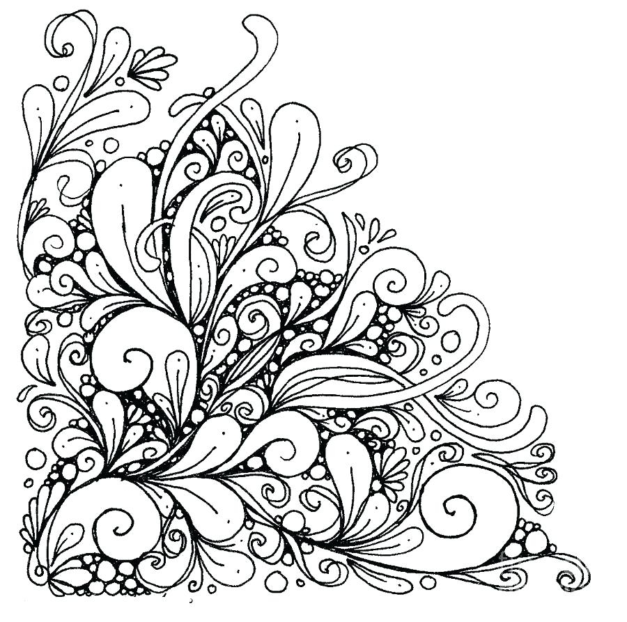 Coloring Pages For Adults. Seamles Henna Mehndi Doodles Abstract ... | 893x900