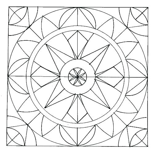 500x493 Geometric Colouring Geometric Coloring Pages Complex Geometric