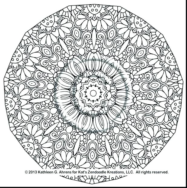 618x620 Complex Mandala Coloring Pages Complex Mandala Coloring Pages