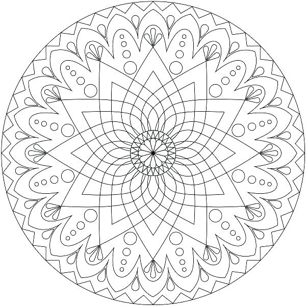 600x600 Complex Mandala Coloring Pages Complex Mandala Colouring Pages