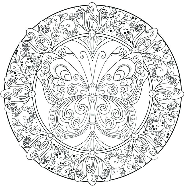 650x655 Complex Mandala Coloring Pages Complicated Coloring Pages
