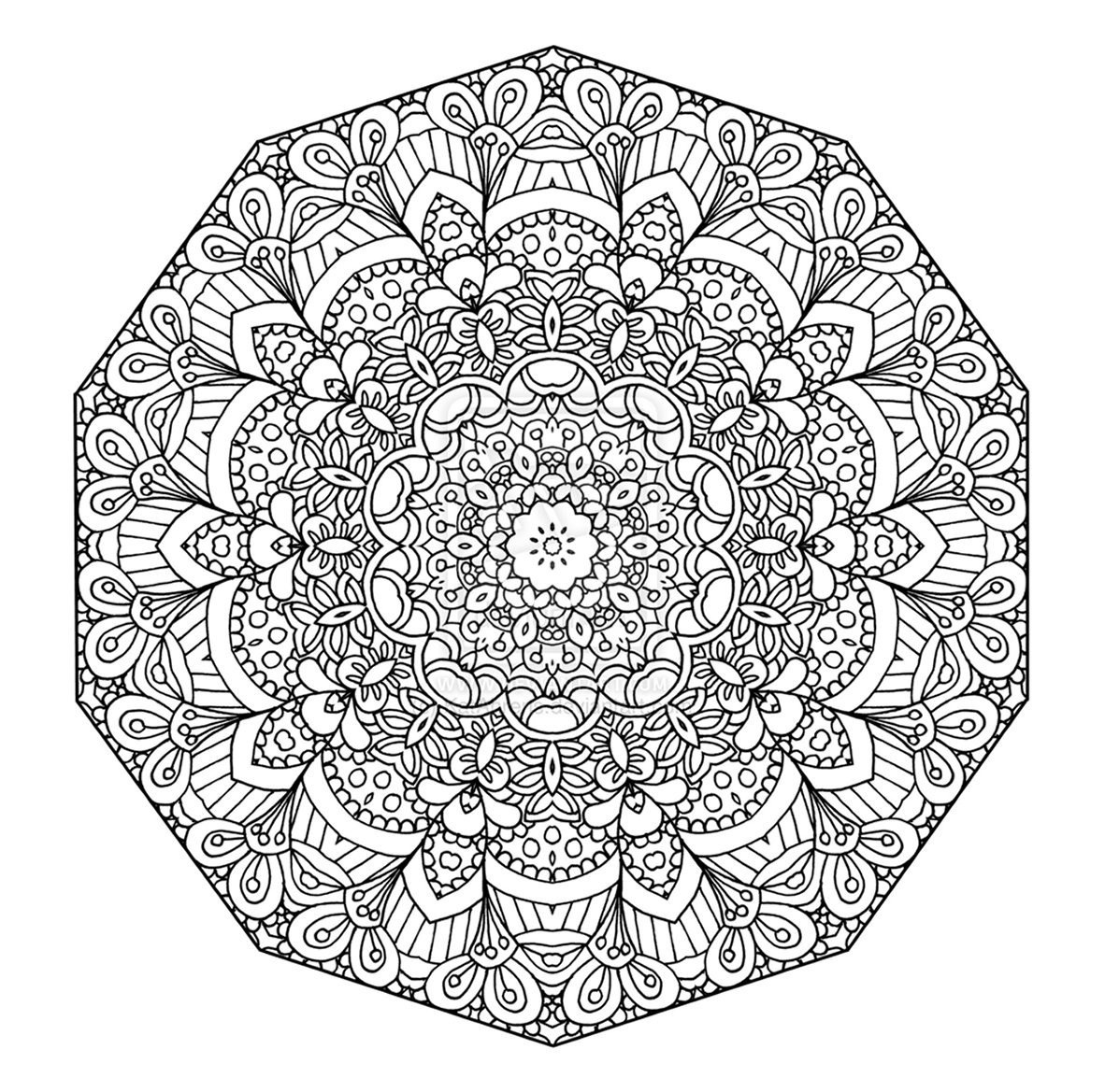 1182x1169 Complex Mandala Coloring Pages Printable Classbeachhotel