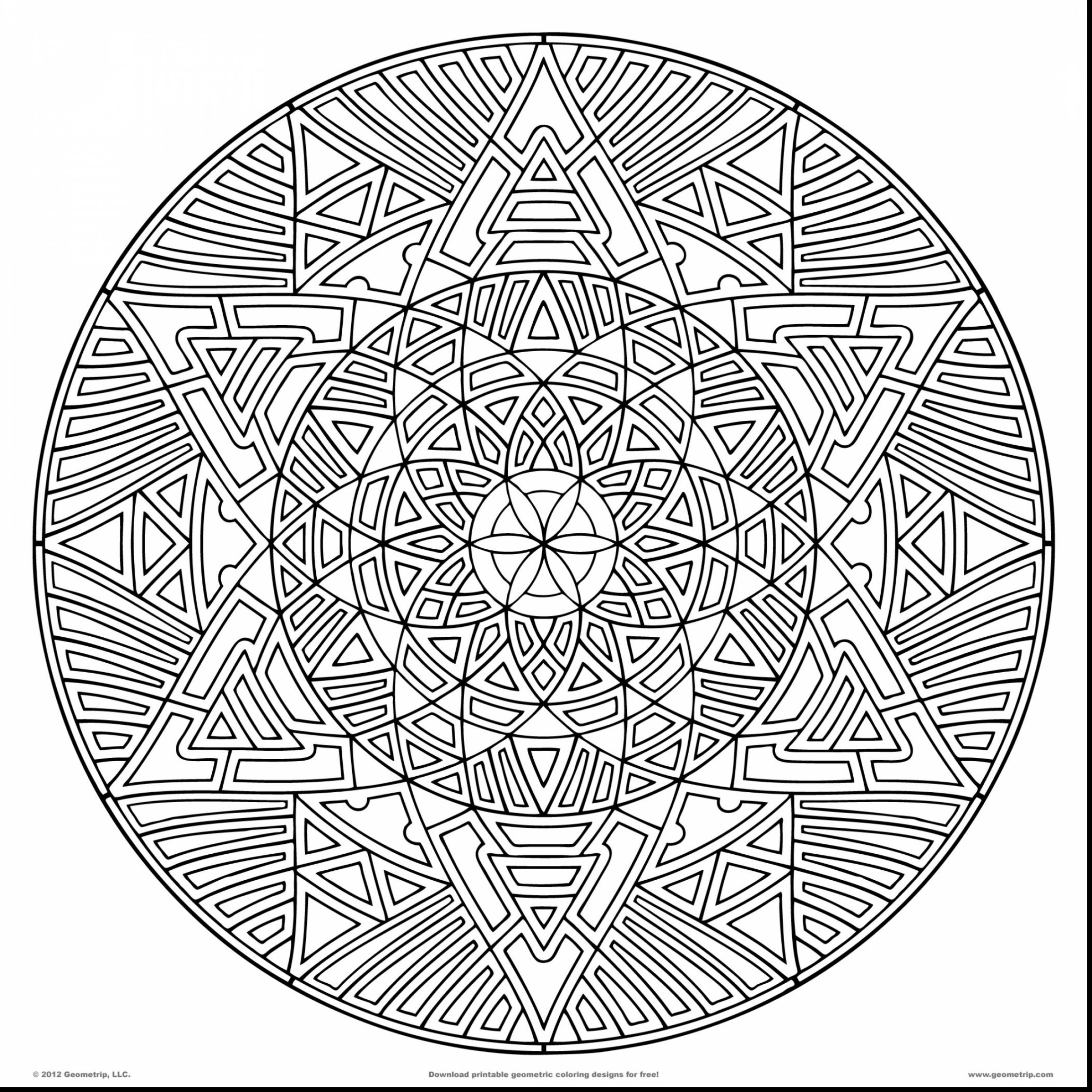 2310x2310 Complex Mandala Coloring Pages Printable