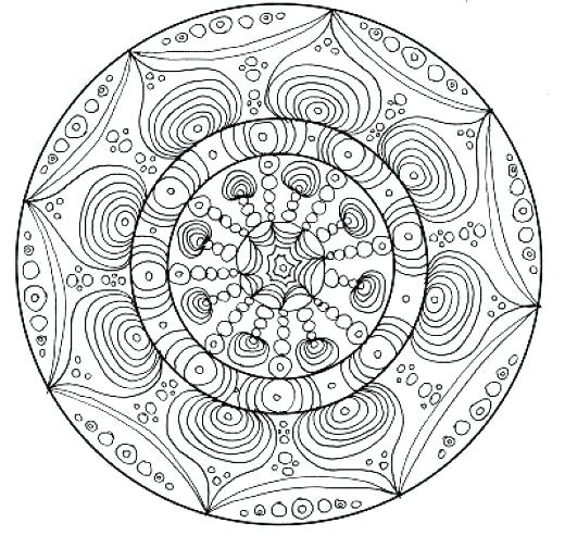 520x504 Complex Mandala Coloring Pages Printable Complex Coloring Pages