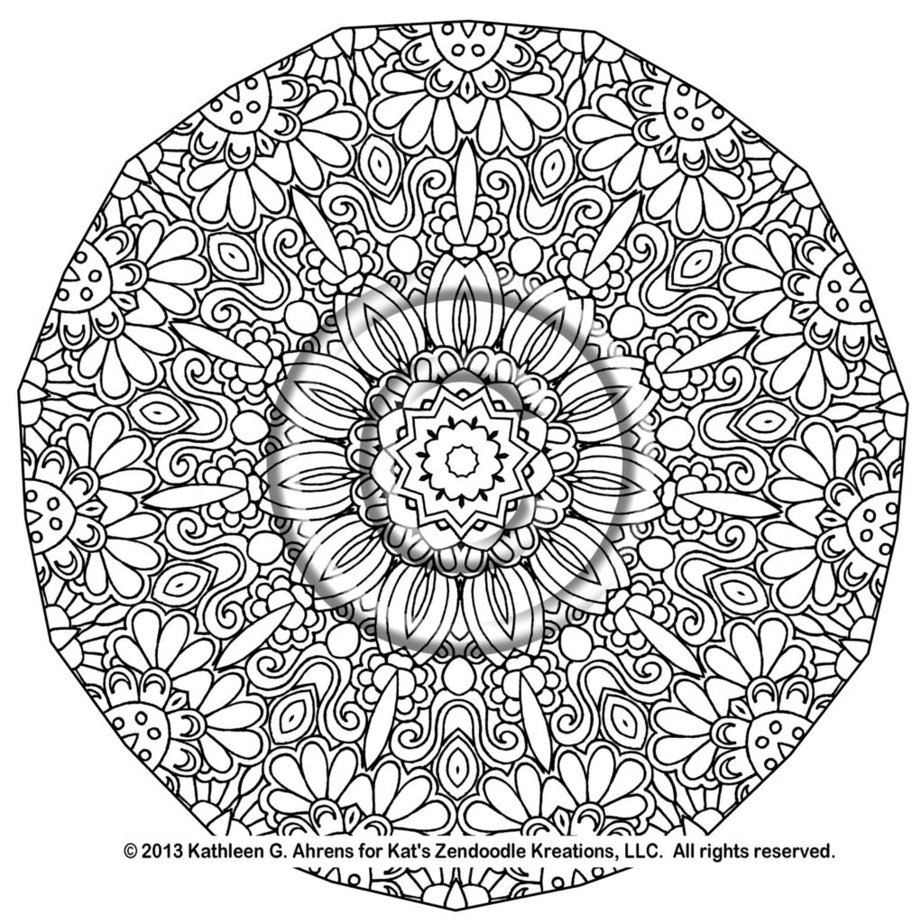 1021x1024 Complex Mandala Coloring Pages Printable Complicated Get Bubbles