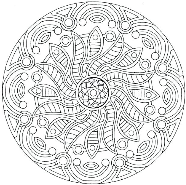 620x617 Free Printable Mandala Coloring Pages Or Complex Mandala Coloring