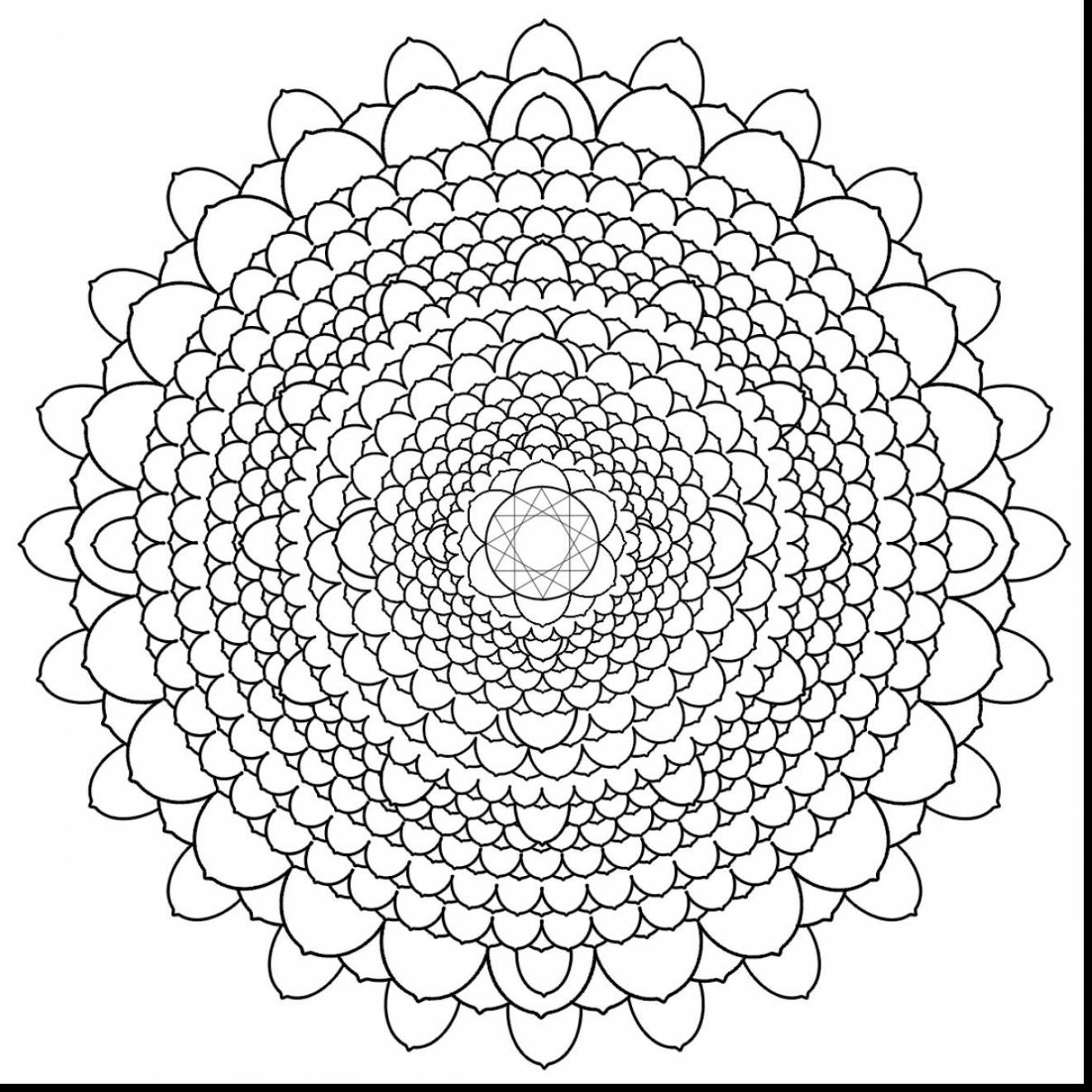 1320x1320 Mandala Flower Coloring Pages Difficult
