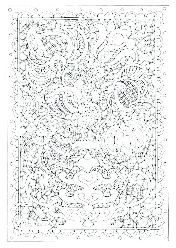 600x846 Coloring Pages Complex Complex Mandala Coloring Pages Printable