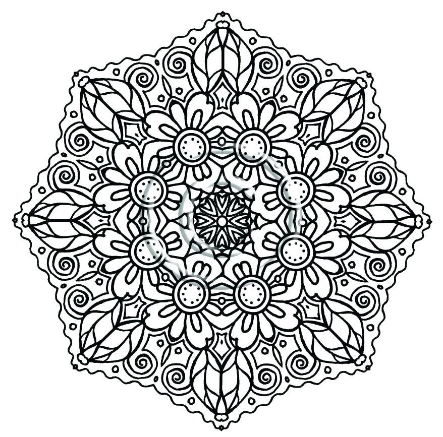 878x867 Intricate Mandala Coloring Pages Intricate Coloring Pages Great