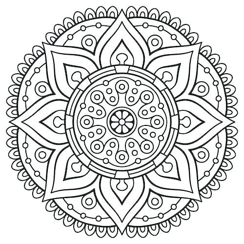500x500 Coloring Pages Adults Ideal Free Coloring Pages Adults Fee Mandala