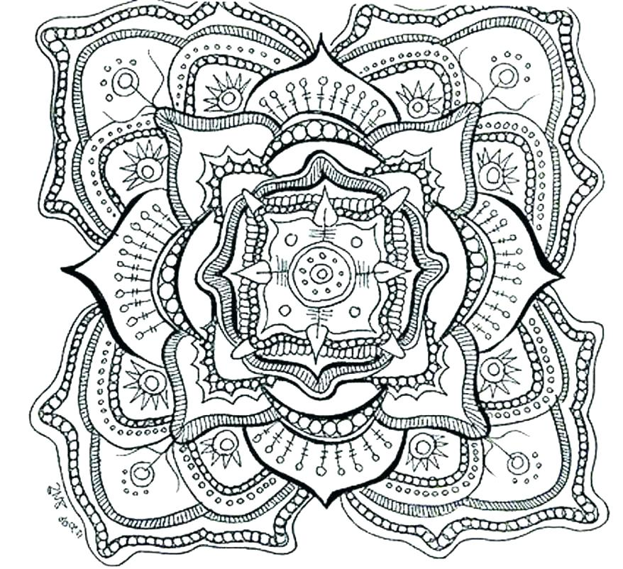 878x802 Intricate Coloring Pages Printable Intricate Coloring Page