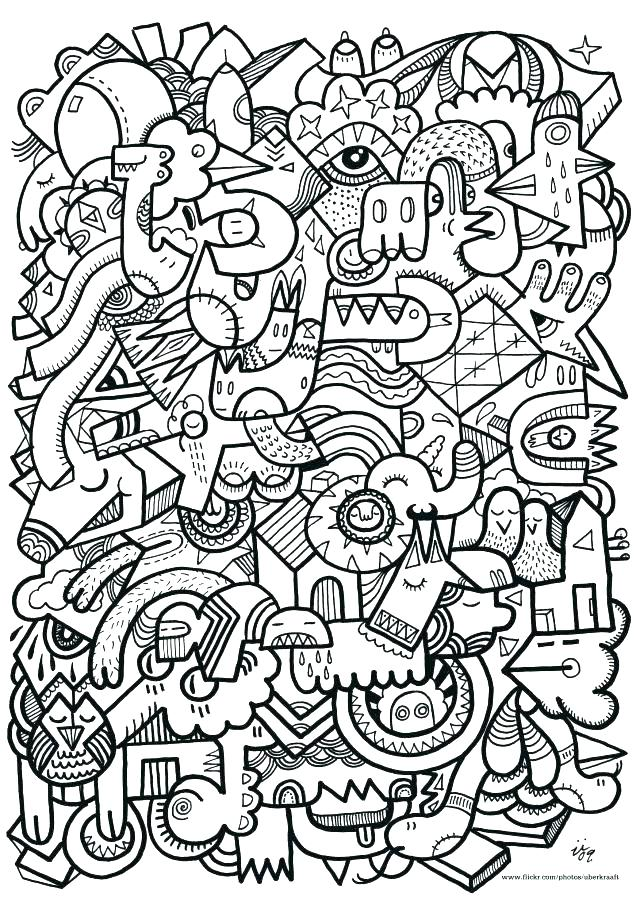 640x905 Difficult Christmas Coloring Pages Printable Difficult Coloring