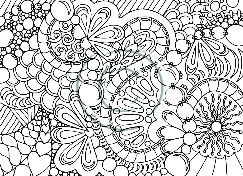1024x744 Trendy Idea Complicated Coloring Pages Printable Difficult Adults