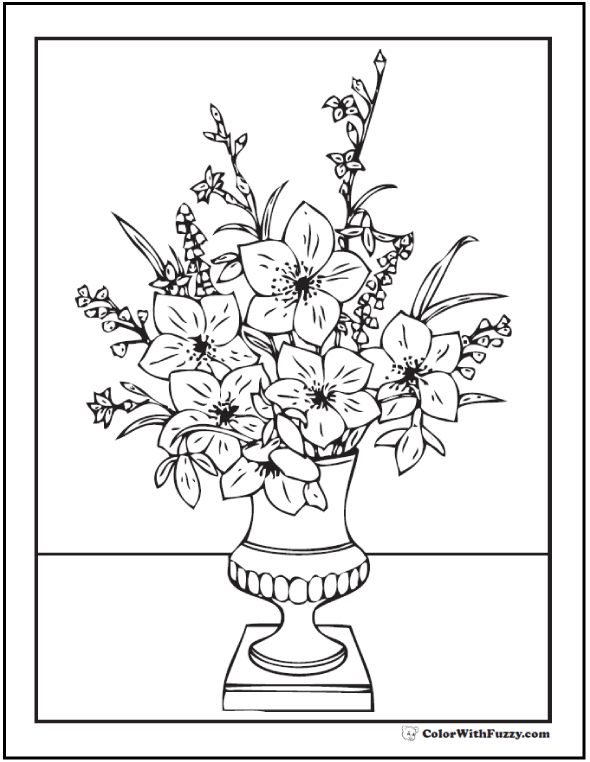 Complicated Flower Coloring Pages