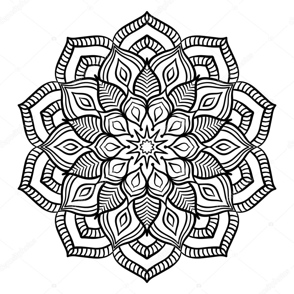 Complicated Mandala Coloring Pages