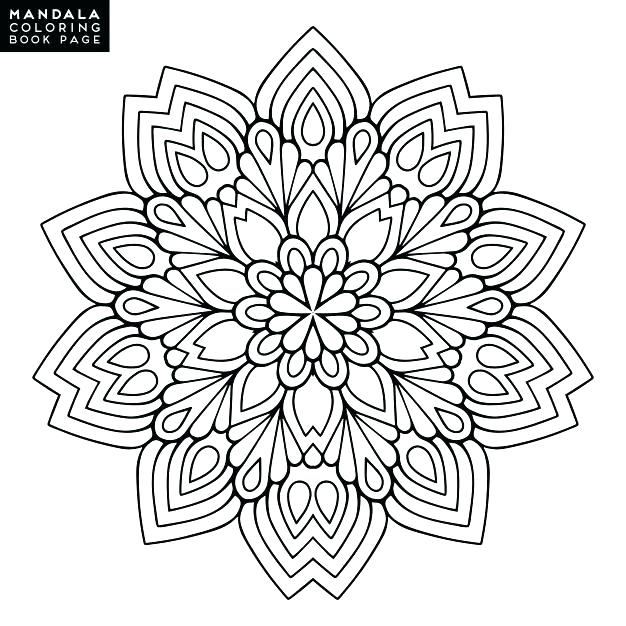 626x626 Intricate Flower Coloring Pages Intricate Flower Coloring Pages