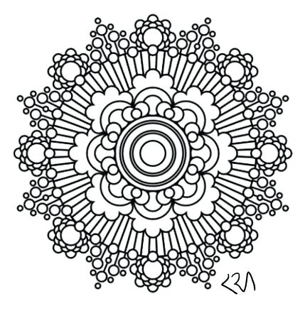 429x438 Intricate Mandala Coloring Pages Intricate Mandala Coloring Pages