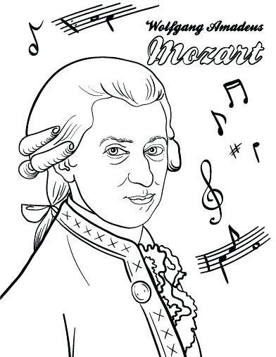 392x507 Composer Coloring Pages German Composer Coloring Pages