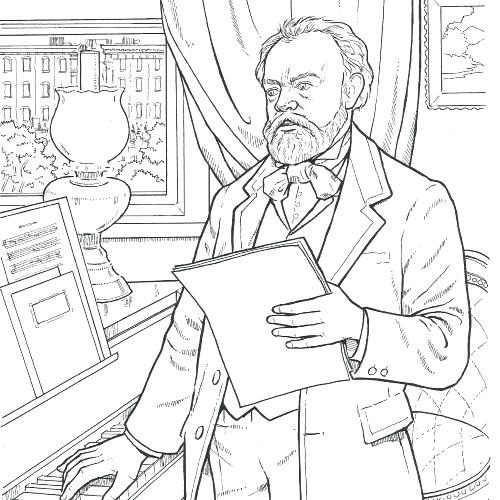 500x500 Composer Coloring Pages Composer Coloring Free Composer Coloring
