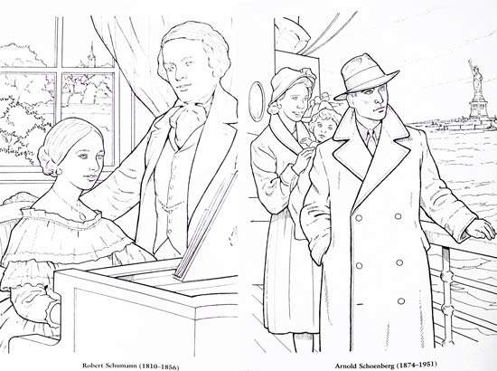 550x410 Composer Coloring Pages Great Composers Coloring Book Review Lacie