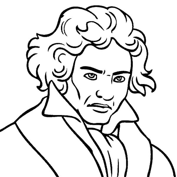 600x600 Composer Coloring Pages Ludwig Van Beethoven The Great Composer
