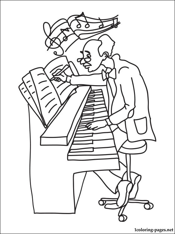 560x750 Composer Coloring Page Coloring Pages
