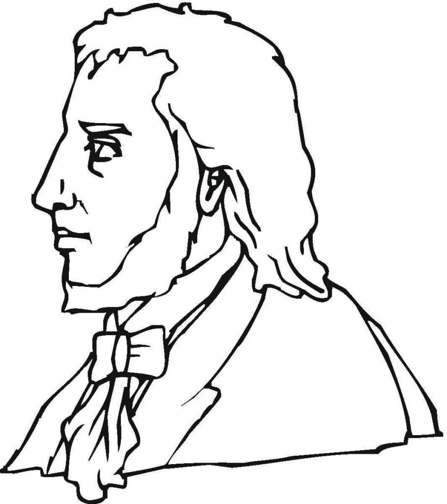 909x1024 Felix Mendelssohn Composer Coloring Page