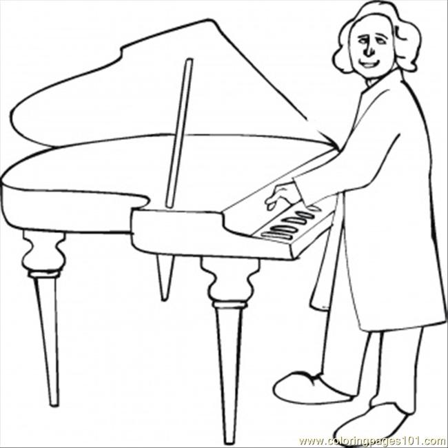 650x650 Great Composer Coloring Page