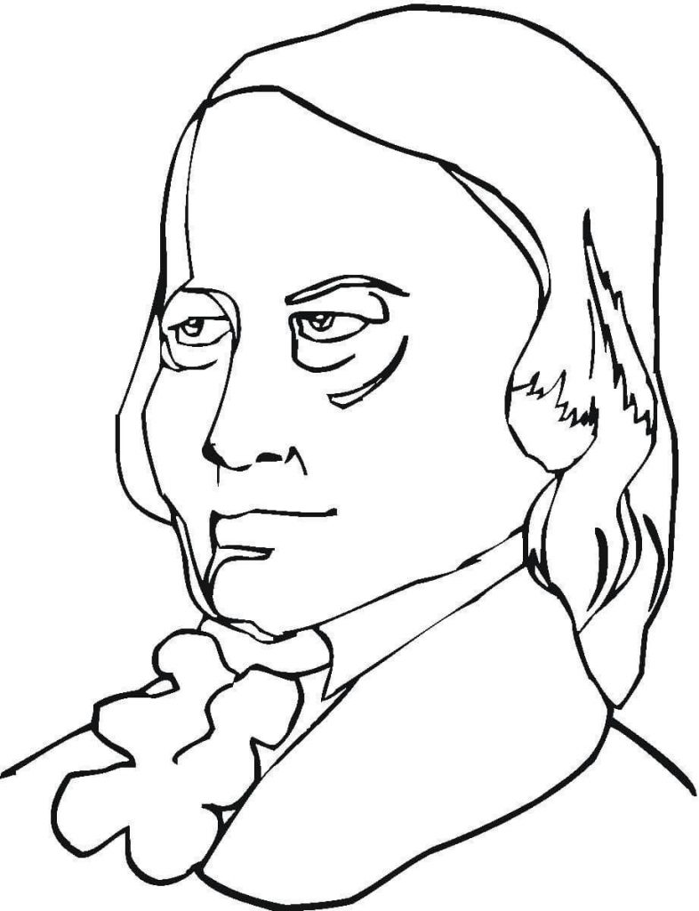 786x1024 Robert Schumann Composer Coloring Page