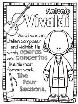 263x350 Baroque Composers Coloring And Fact Sheets Baroque Composers