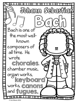 263x350 Baroque Composers Coloring And Fact Sheets