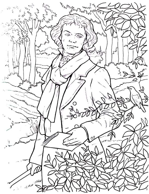 Wolfgang Mozart, Famous Composer Informational Text ... |Composers Coloring Pages