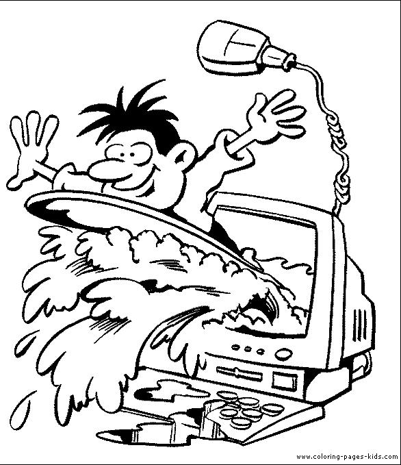 586x679 Computer Coloring Pages Best Of Puter Coloring Pages Logo