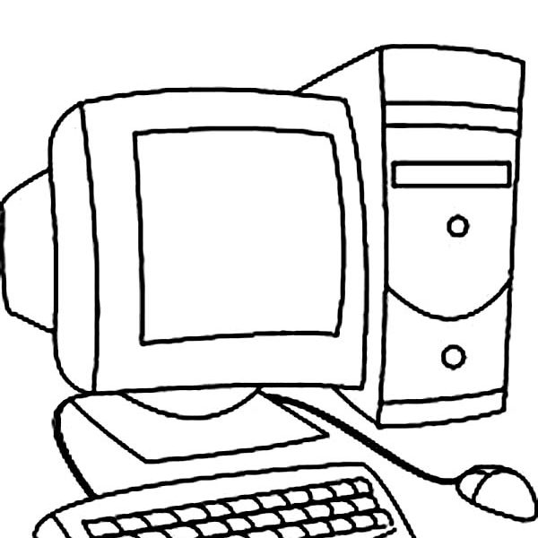 600x600 Computer Lab Coloring Pages Coloring Page