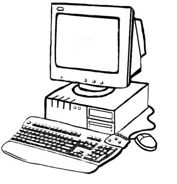 350x364 Computer Coloring Pages New Computer Coloring Pages