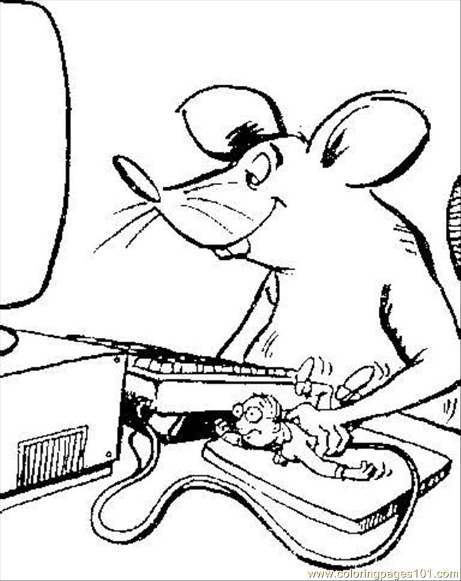 650x819 Computer Mouse Coloring Page