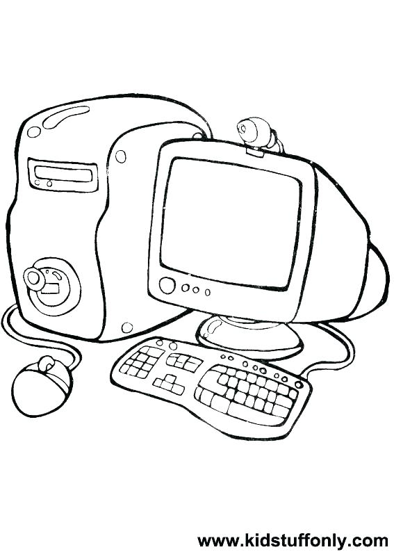 567x794 Kids N Coloring Pages Computer Computer Coloring Pictures