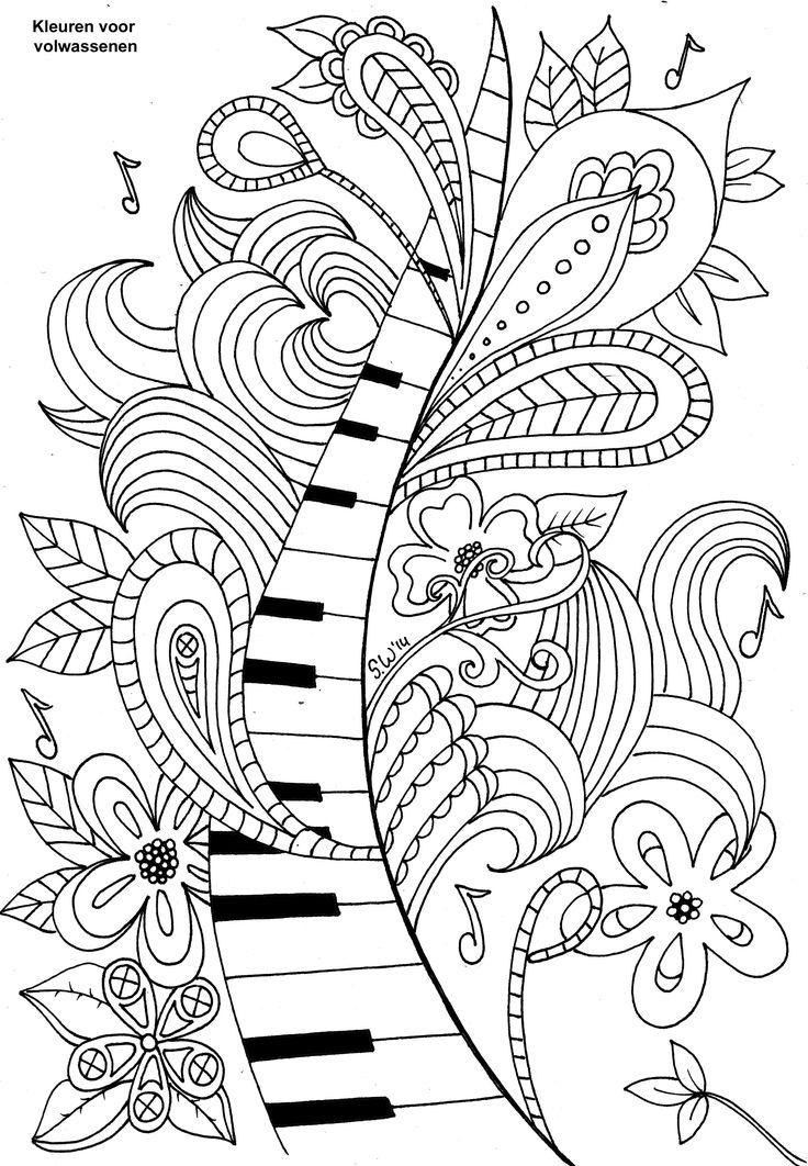 736x1062 Drawn Keyboard Coloring