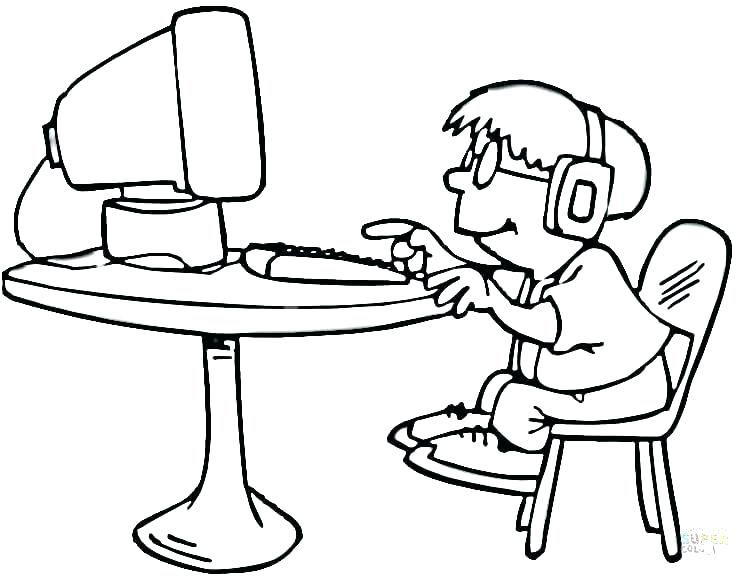 750x576 Free Computer Keyboard Coloring Page Kids Coloring Coloring Pages