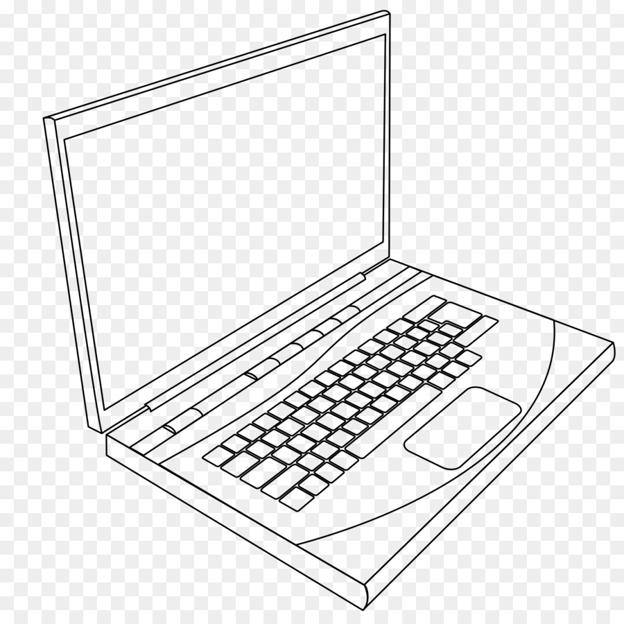 900x900 Laptop Coloring Book Computer Keyboard Page
